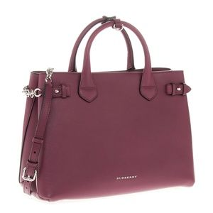 Brand New Burberry Medium Banner Garnet Satchel